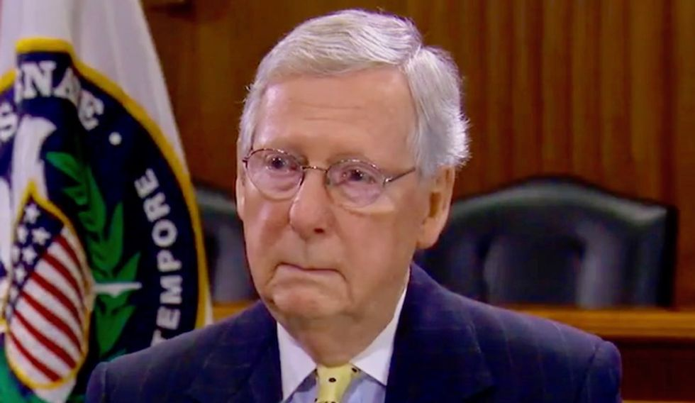 McConnell's support in Kentucky has cratered since he attached himself to Trump -- and now his seat could be on the line