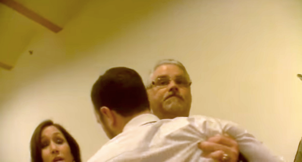 This drunk Texas Republican had to be restrained during fracas with 'f*cking hack' Tea Party prankster