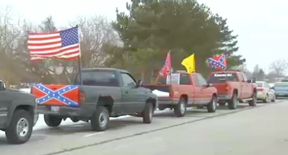 Black students taunted as 'slaves' at Michigan school surrounded by Confederate flags