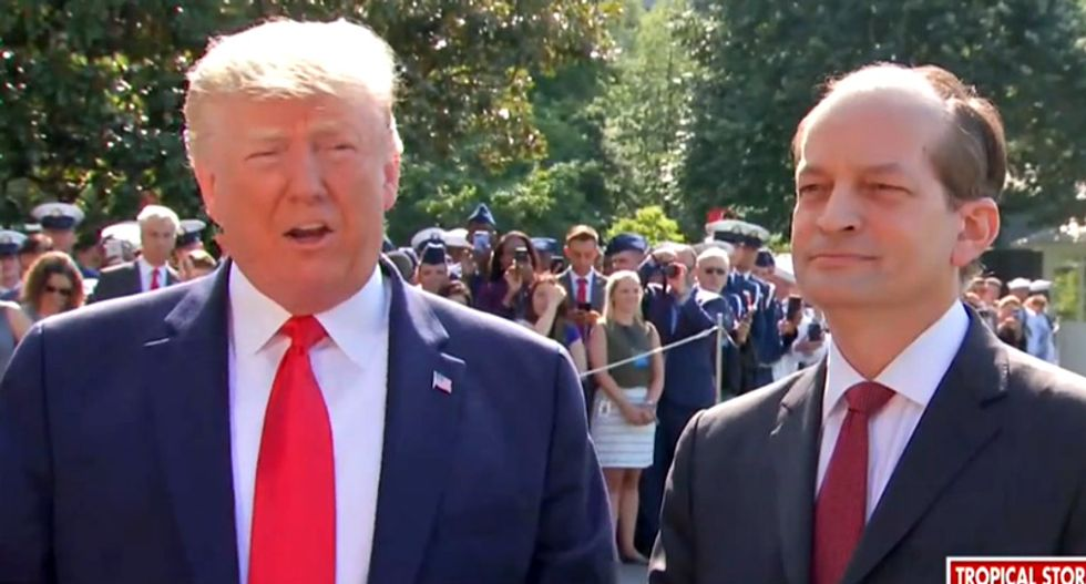 'I'm with him': Trump whines about Alex Acosta resigning over Epstein scandal