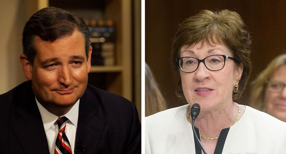 'Speechless' Susan Collins scoffs at Ted Cruz for claiming he's 'consistently opposed shutdowns'