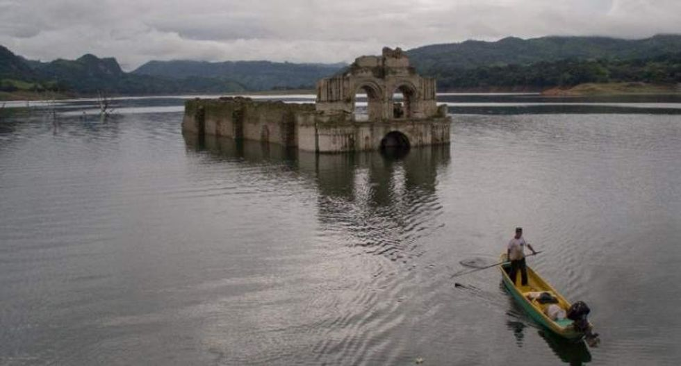 Severe drought exposes 16th century church hidden in Mexican river
