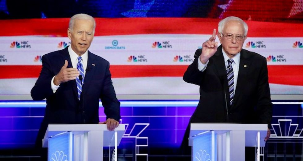 Sanders accuses Biden of parroting pharma and insurance industry script with attacks on Medicare for All