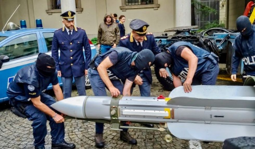 Italy seizes air-to-air missile along with neo-Nazi propaganda and Hitler memorabilia from far-right sympathizers