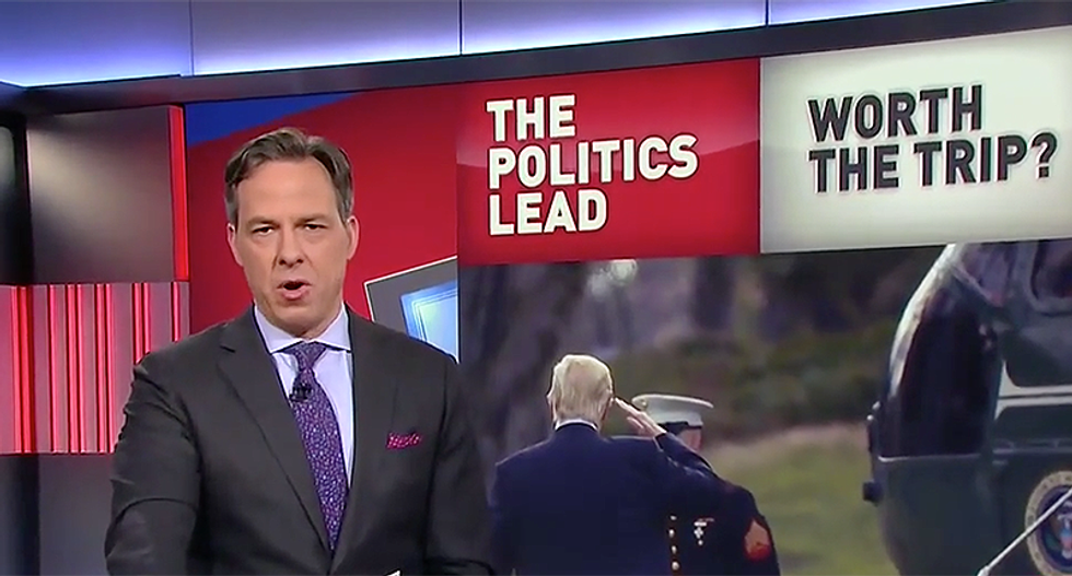 Tapper nails Trump for claim 'we must do a lot more with less' while costing taxpayers $3M at Mar-a-Lago