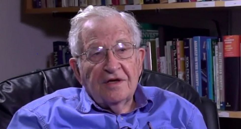 Noam Chomsky blasts modern GOP as extremists whose only policy is 'don't do anything or bomb'