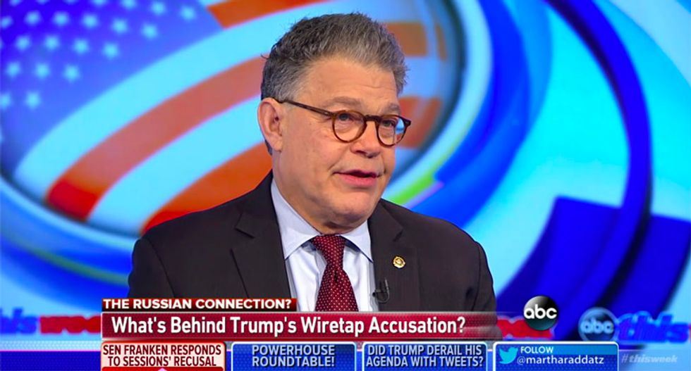 Al Franken: Sessions needs to return before Senate committee and explain his Russian connections