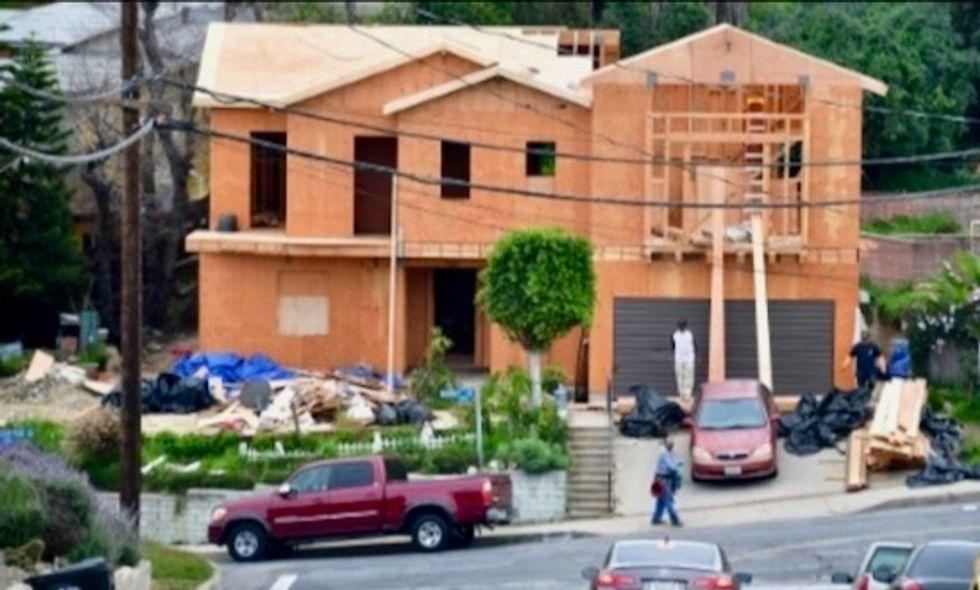 US homebuilding falls sharply in July