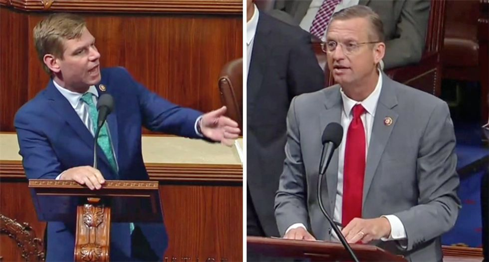 Republican freaks out after Democrat quotes Trump's racist statement on the floor of Congress