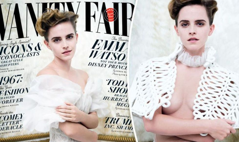 Emma Watson's nearly topless photo raises questions about feminist hypocrisy