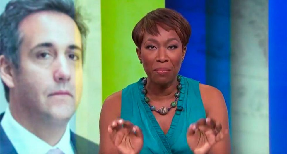 'Snitches get stitches': Watch MSNBC's Joy Reid speculate on the identity of Trump's 'drunk/drugged up' informant