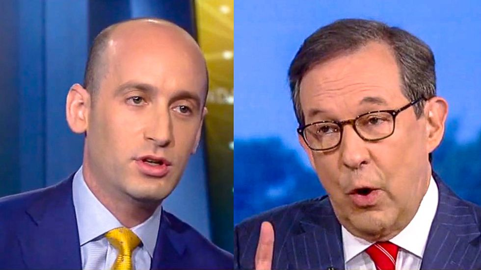 Chris Wallace burns down Stephen Miller over Trump's racist lies: He let 'send her back' chant 'go for 13 seconds'