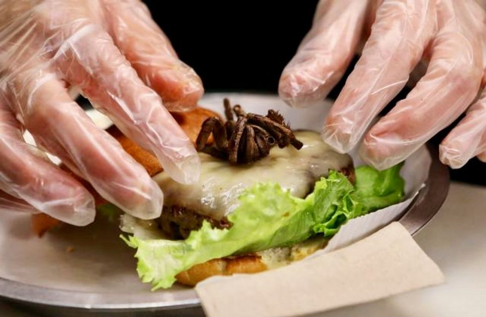 You want tarantula with that? At US burger joint, it's an option