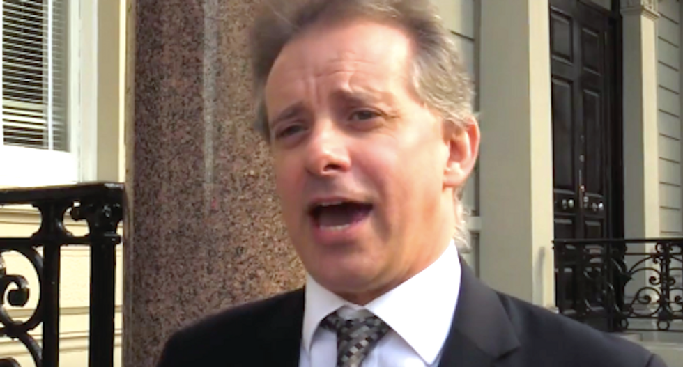 WATCH: British ex-spy behind 'golden showers' dossier breaks silence after two months in hiding