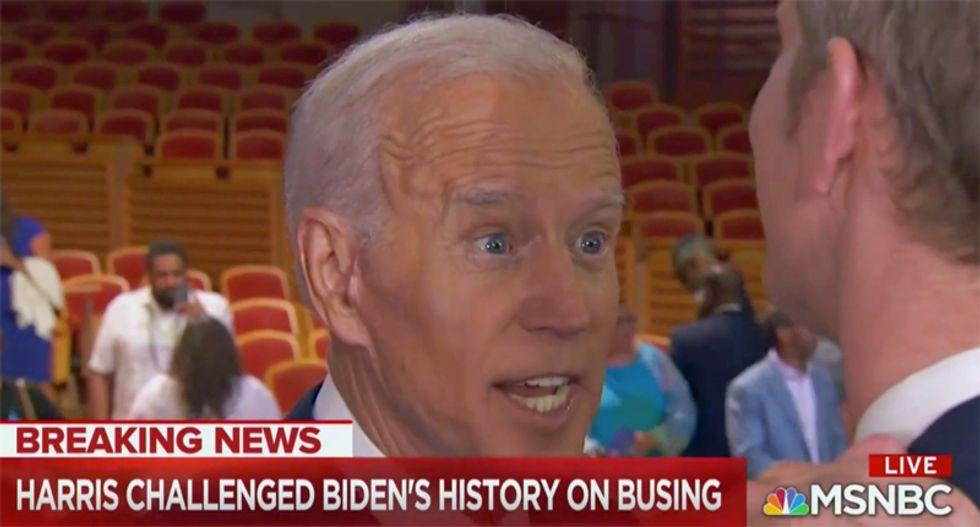Joe Biden struggles to explain his record on segregation in bizarre post-debate interview