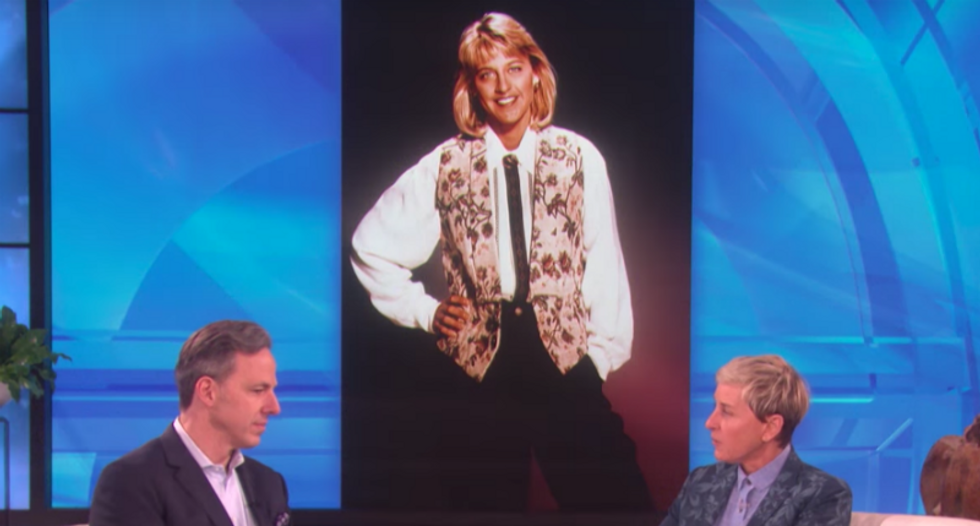 WATCH: CNN's Jake Tapper tells Ellen DeGeneres he had 'a rather large crush' on her in the 80's
