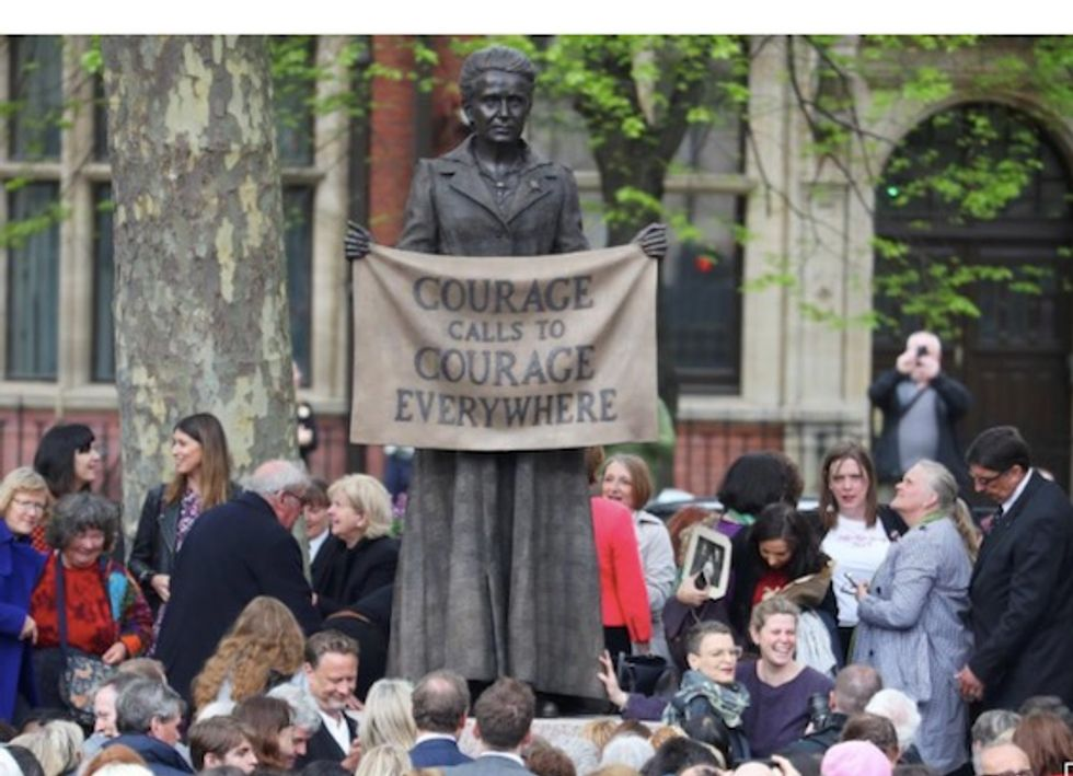 All-male no more: London's Parliament Square gets first statue of a woman