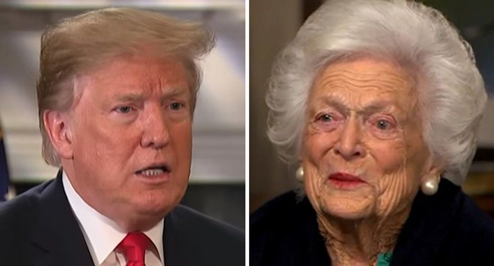 Trump scorched for taking shot at late Barbara Bush: 'Fighting with dead people, part II'