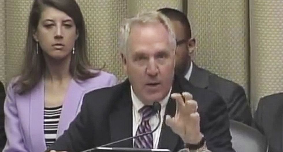 Feud breaks out during health care hearing as Republican whines that men have to pay for prenatal care