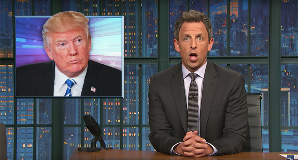 Trump ridiculed by Seth Meyers for yet another 'super weird' handshake during Hanoi debacle