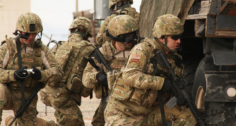 US forces to stay in Iraq as long as needed: spokesman