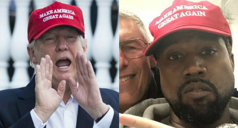 CNN panel mocks Kanye and Trump bromance: Now president has another celebrity pal besides Scott Baio
