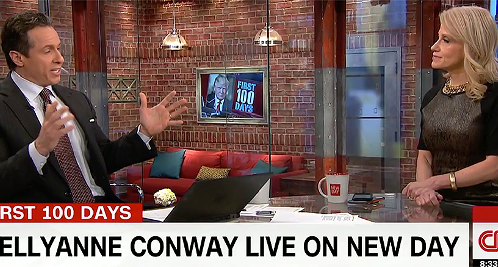 Chris Cuomo refuses to let Kellyanne Conway wriggle away from Trump's bizarre wiretapping claims