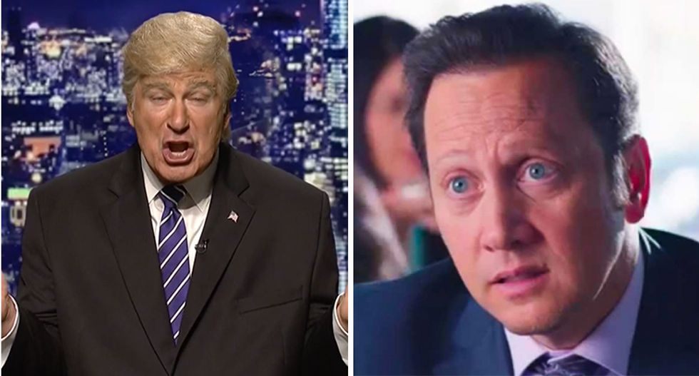 Former SNL cast-member Rob Schneider gripes Alec Baldwin's Trump impression is ruining the show