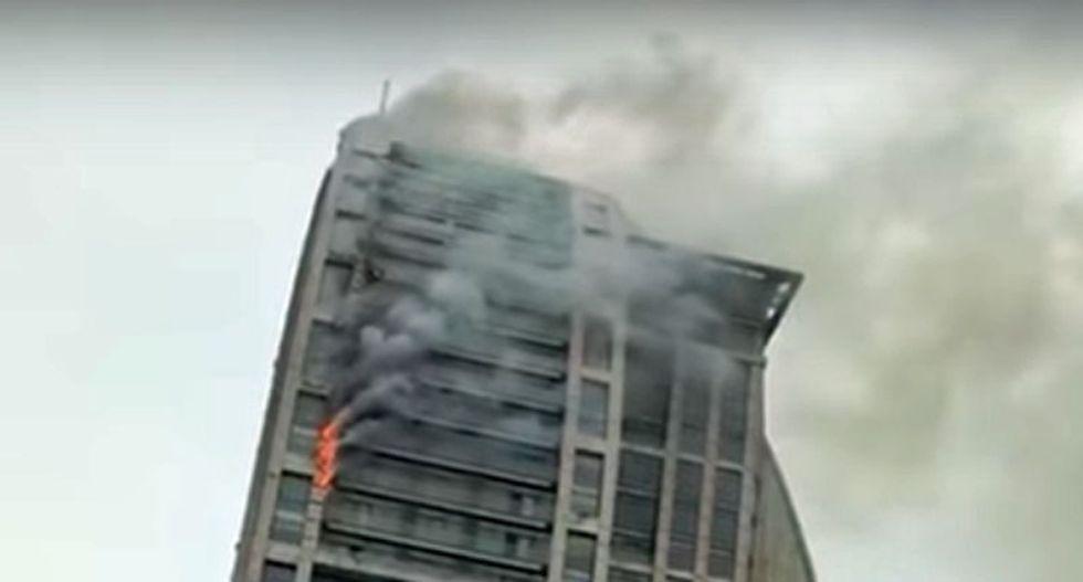 WATCH: Fire at Trump International Hotel and Tower in Azerbaijan capital of Baku