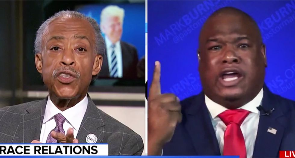 Trump-loving pastor melts down after MSNBC's Sharpton asks him to name one thing president has done for blacks