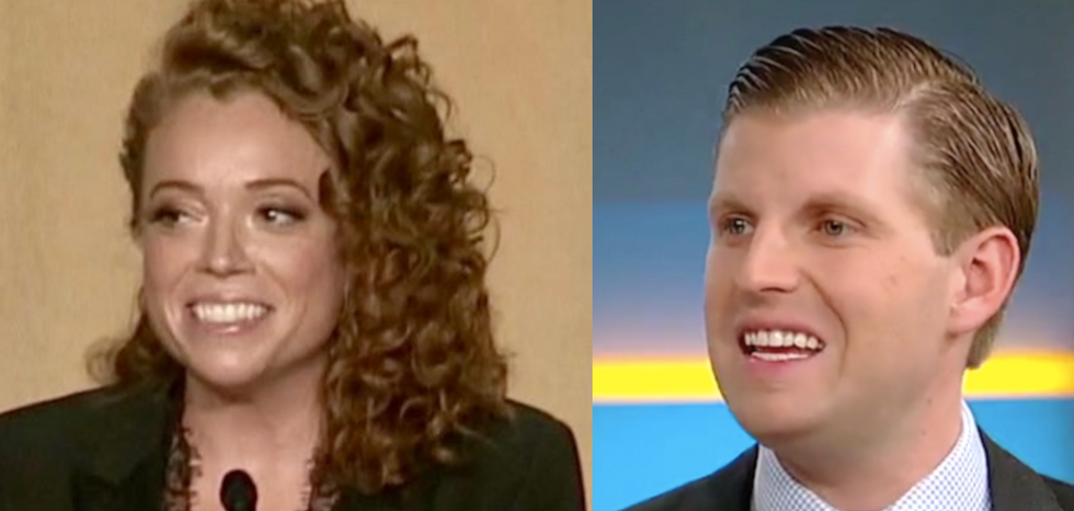Eric Trump 'liked' how Michelle Wolf 'destroyed' Sarah Huckabee Sanders at the WHCD