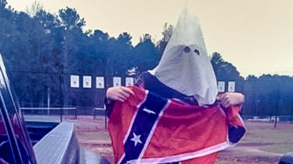 Georgia high school finds 'no specific threat' from student wearing KKK hood and Confederate flag