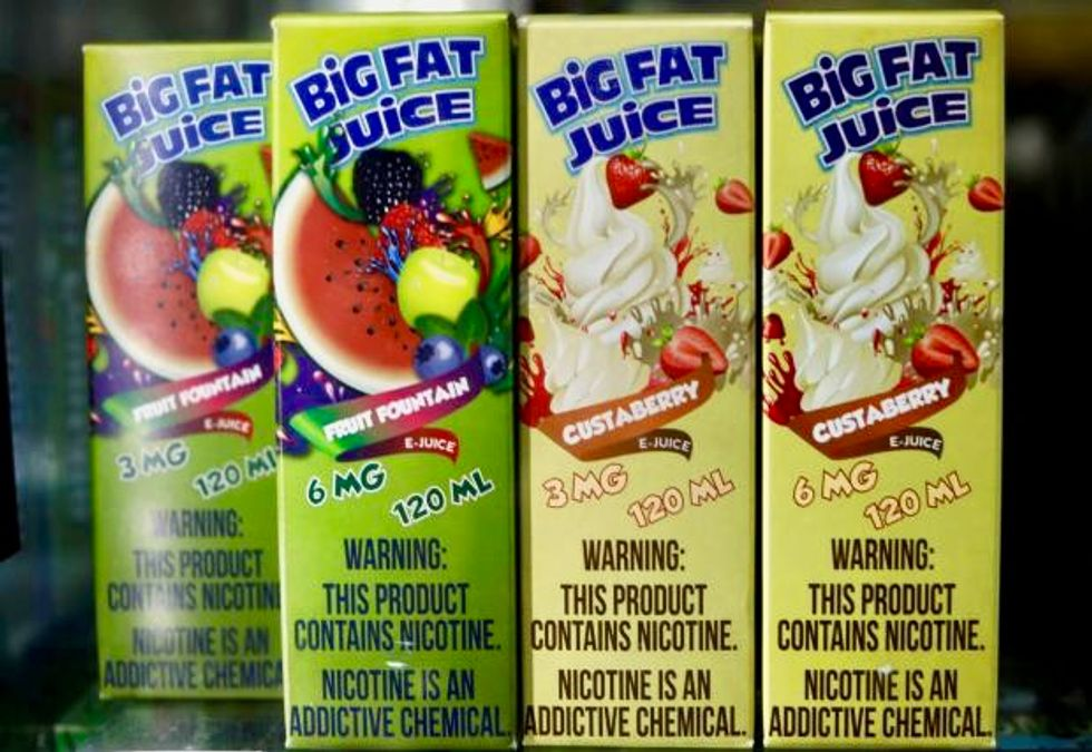 US clamps down on kid-friendly packaging for e-cigarette liquids