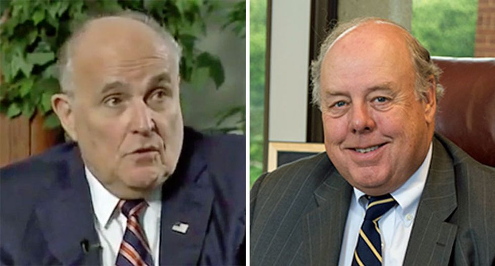 Trump lawyer fumes at House Intel for 'harassing' two shady Giuliani associates in impeachment probe
