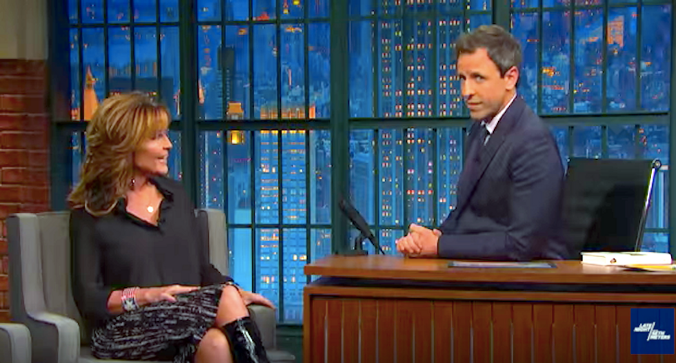 Seth Meyers schools Sarah Palin on Syrian refugees: There is a vetting process -- and here's how it works