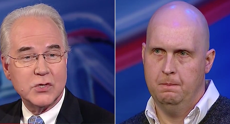 'We don't want to take care away': Tom Price lies to cancer survivor saved by Obamacare