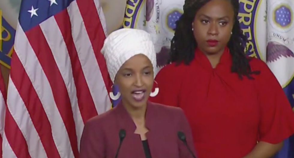'This is his plan to pit us against each other -- to continue to enrich his friend': Ilhan Omar demands Trump's impeachment