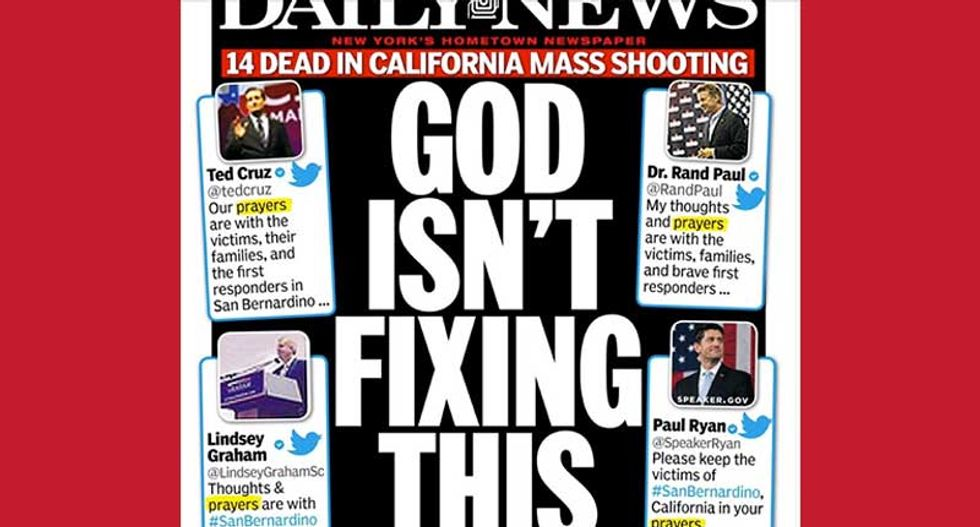 Twitter users shame Republican inaction on gun violence with #thoughtsandprayers tag