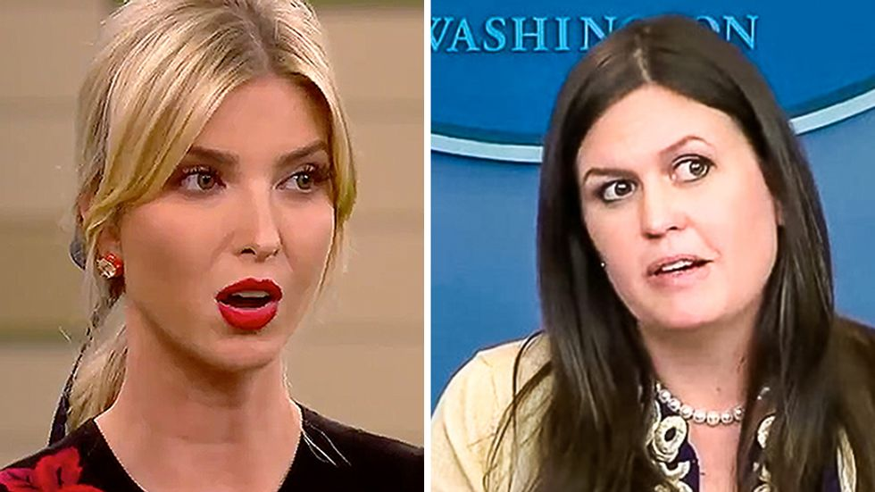 Sarah Sanders denies Ivanka replacing John Kelly: 'I wouldn't use Vanity Fair for much else than a coaster'