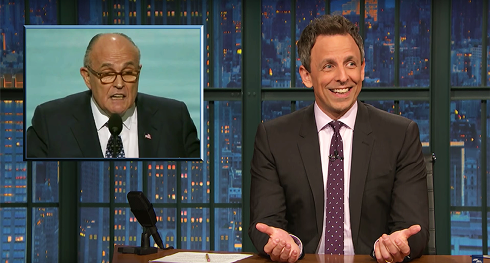 Seth Meyers hilariously mocks Trump's presidency as a 'TV show out of ideas and recycling old characters'