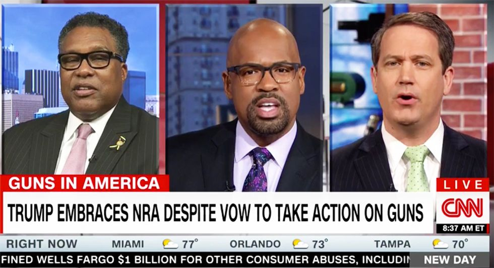 CNN panel goes off the rails after NRA backer says organization doesn't need 'to talk about gun safety'