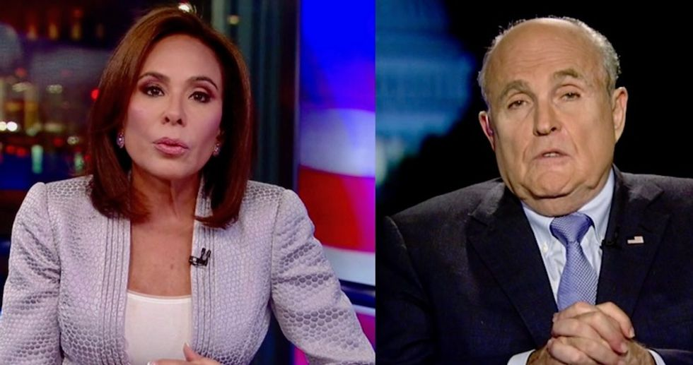 'I'm still learning all of the facts': Watch Rudy Giuliani try to backtrack on Judge Jeanine Pirro's Fox News show