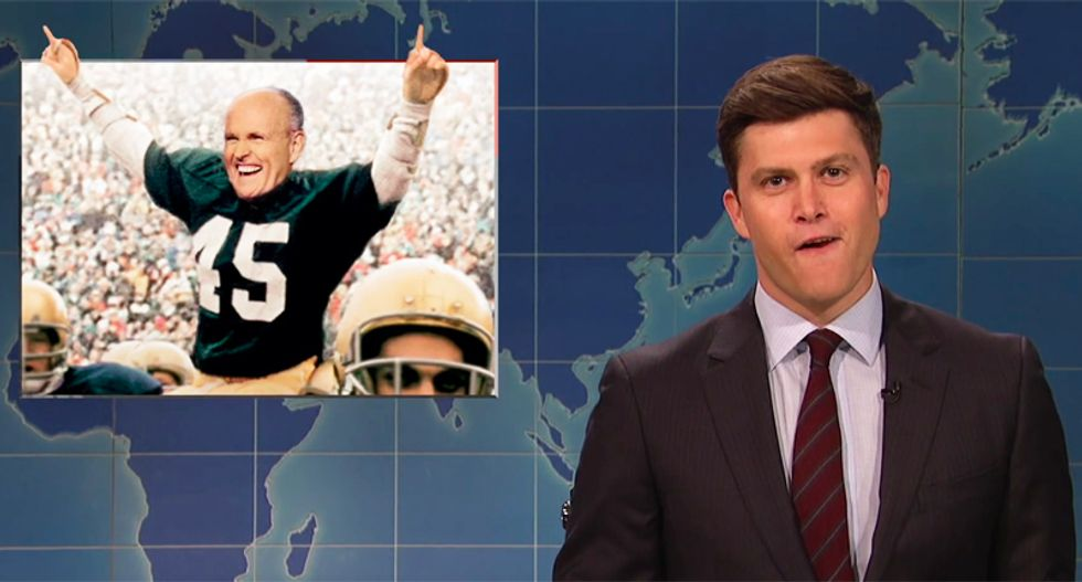 SNL's 'Weekend Update' ridicules Trump's desperate move to save presidency: 'They're finally putting in Rudy'