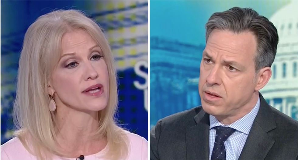 'I would like him to stop lying': CNN's Tapper confronts Kellyanne Conway over Trump lies about Daniels payoff