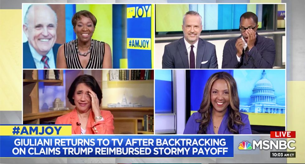 MSNBC panel dissolves in laughter -- and then destroys Giuliani's 'buffoonish' ABC interview