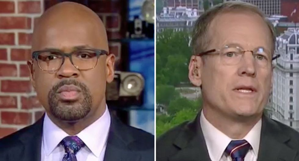 WATCH: CNN host drops the hammer on Trump apologist Kingston after he accuses Stormy Daniels of blackmail