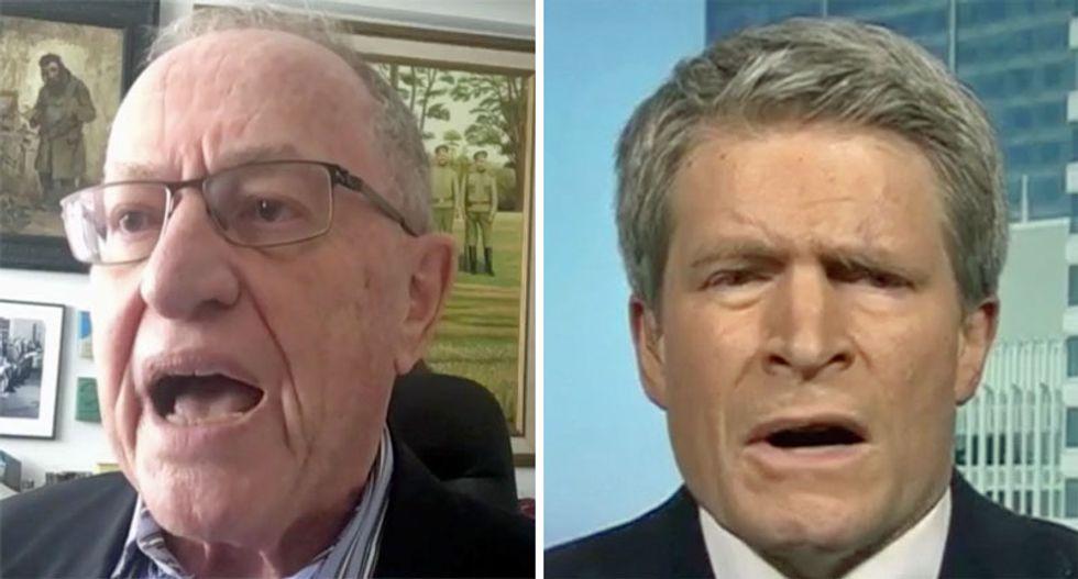 WATCH: MSNBC segment explodes after Dershowitz calls lawyer Richard Painter 'un-American and a liar'