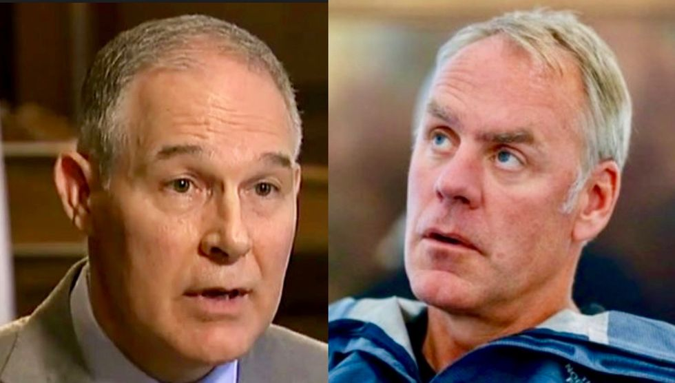 Scott Pruitt's staff is trying to get him off hotseat by shopping negative stories about a cabinet rival: report