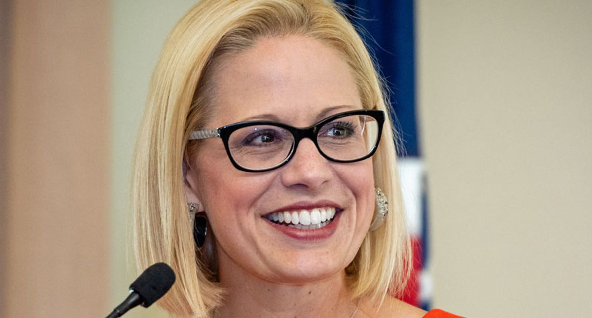 'Marie Antoinette' trends after video of Sen. Sinema giving thumbs down to $15 minimum wage vote goes viral