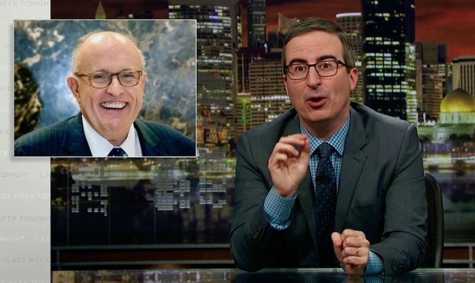 'They both want to f*ck Ivanka': John Oliver documents Rudy Giuliani's descent from 'Person of the Year' to Trump's incompetent lawyer